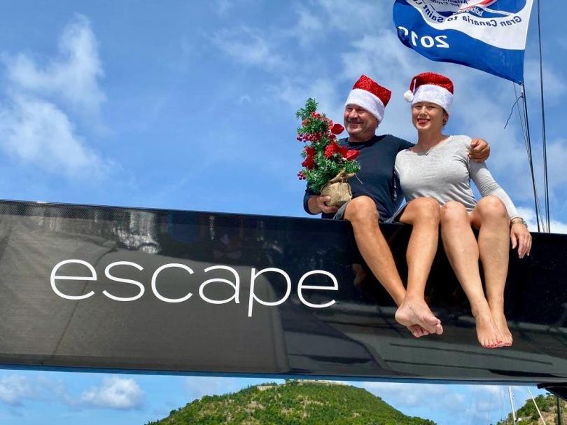 Annemarie und Volker sitzen im Baum der escape CNB66